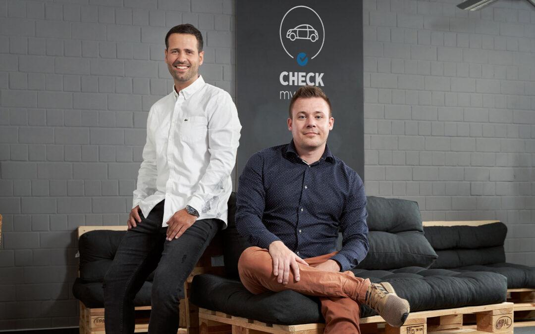 Die CheckmyNext Gründer Carsten Daus und Daniel Desler